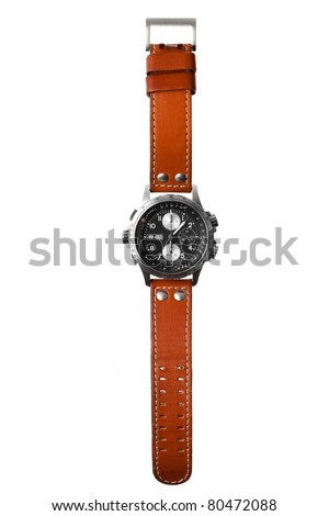wristwatch isolated on white