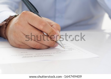 write data on the form