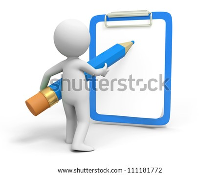 Write/Pencil/ board /A person in writing with pencil on the board