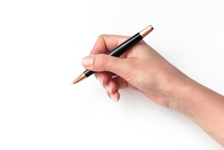 Write with a pen in hand
