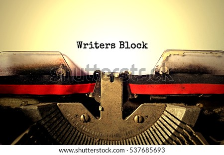writers block typed words on a...