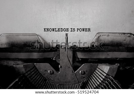writers knowledge is power...