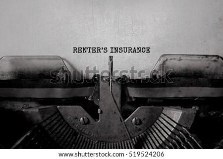 writers renter's insurance...