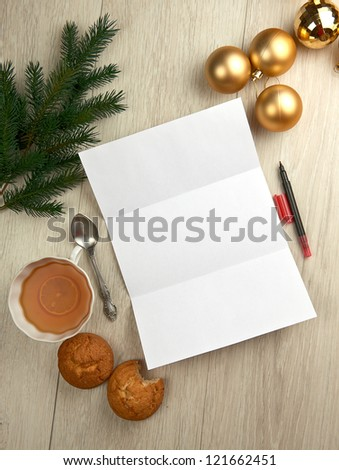 Writing a letter to Santa Claus