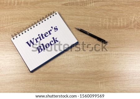 Writing and Writer's Block Concept with a notebook and pen