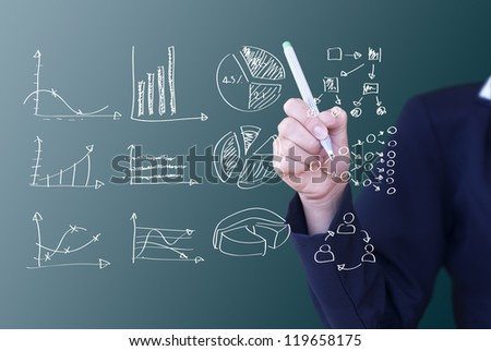 writing business idea concept - stock photo