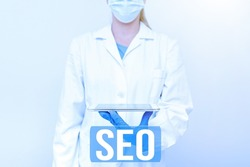 Writing displaying text Seo. Internet Concept incredibly effective way to market your near business online Demonstrating Medical Techology Presenting New Scientific Discovery