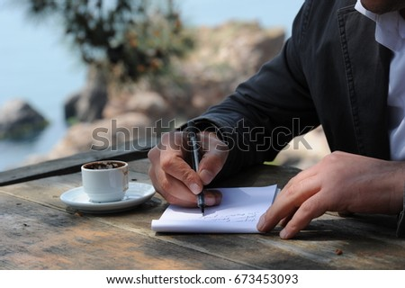 Writing is a medium of human communication that represents language and emotion with signs and symbols. #673453093