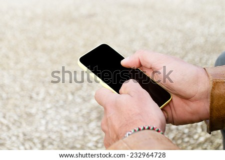 writing message on mobile phone