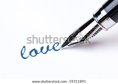 writing message with black pen