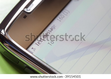 Writing new text message on a mobile phone