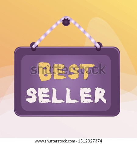 Writing note showing Best Seller. Business photo showcasing book or other product that sells in very large numbers Board fixed nail frame colored background rectangle panel.