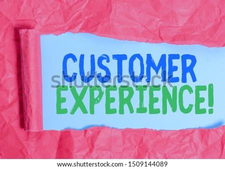Writing note showing Customer Experience. Business photo showcasing product of interaction between organization and buyer.