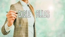 Writing note showing Eagle Rules. Business photo showcasing a huge set of design rules which your layout needs to pass.