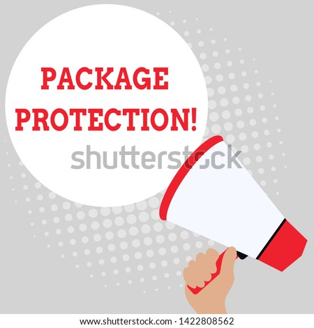 Writing note showing Package Protection. Business photo showcasing Wrapping and Securing items to avoid damage Labeled Box Office Worker Sunglass Blank Whiteboard Meeting Presentation.