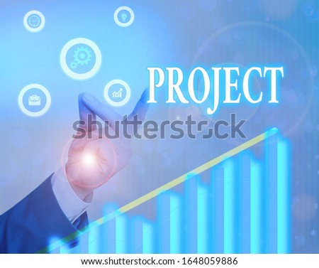 Writing note showing Project. Business photo showcasing Planned work activity Study of particular subject Creative job.