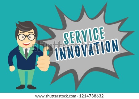 Writing note showing Service Innovation. Business photo showcasing Improved Product Line Services Introduce upcoming trend