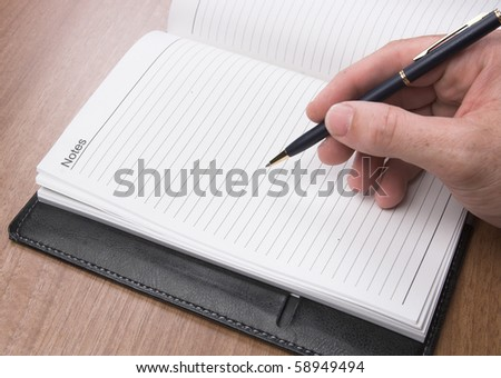 Writing on a diary