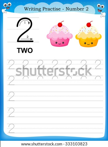 Writing Number 2 Worksheets For Kindergarten