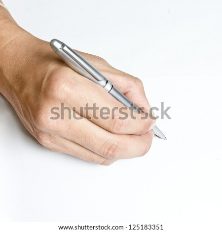 right hand shaking when writing a thesis