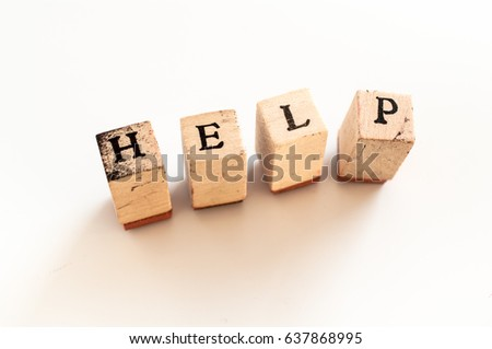 Written help written with wooden dice #637868995