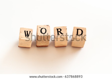 Written word written with wooden dice #637868893