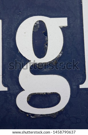 Written Wording in Distressed State Typography Found Letter G #1458790637
