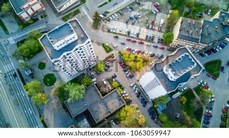 Wroclaw Manhattan, sedesowce, widok z powietrza, from the sky Zdjęcia stock ©