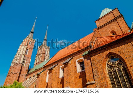 Wroclaw, Poland. 2012. Gothic cathedral of St. John the Baptist (Katedra św. Jana Chrzciciela) in Ostrow Tumski. Zdjęcia stock ©