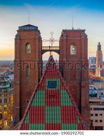 Wroclaw  St Mary Magdalene Church, Wrocław (Mostek Pokutnic w Katedrze św. Marii Zdjęcia stock ©
