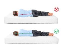 Wrong and correct sleeping posture. Choose right mattress