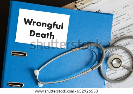Wrongful Death Doctor talk and  patient medical working at office Сток-фото ©