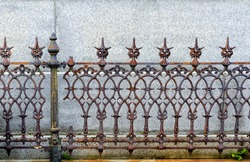 Wrought and cast iron fence. Very old and ornate. Found in a New Orleans cemetery.