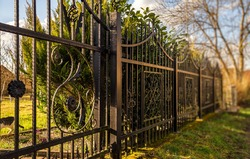 Wrought Iron Fence. Metal fence