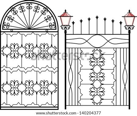 Wrought iron gate door fence window grill railing for Window design bangladesh