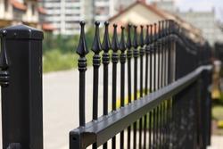 wrought iron gate or entranceway