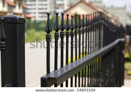 wrought iron gate or entranceway