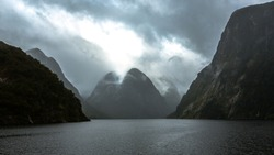 Wunderful fiordland nationalpark in Doubtful Sound, New Zealand