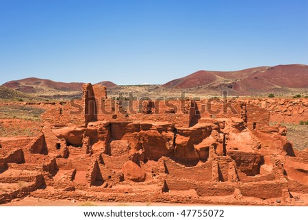 Wupatki pueblo, the largest in Wuptki National monument, Arizona