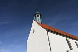 Wurmlingen, Germany - Oct 25, 2020: Wurmlingen Chapel under a clear blue sky.