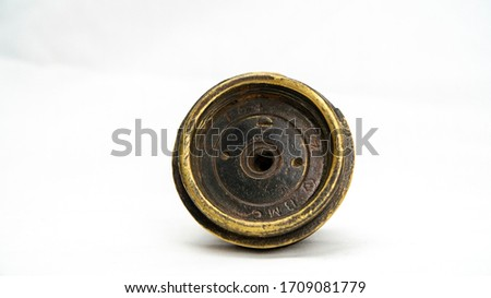 WW1 British 18 Pounder Shrapnel Shell Fuse. Fired 18 pdr fuse cap from Ypres