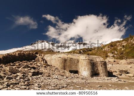 ww2 bunker, fire centre 19, Mont Cenis, France