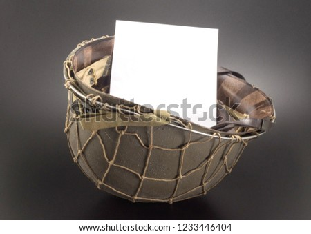 ww2 helmet mockup