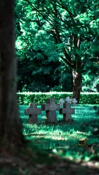 WW2 soldiers cemetery in Cracow, Poland