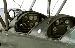 WWI airplane cockpit