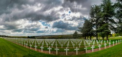 WWI French cemetery in Douaumont, France