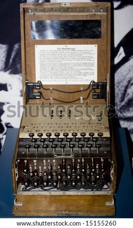 wwII enigma cipher coding machine - stock photo