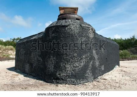 "WWII German fortification ""Memel Nord"" on the Baltic sea coast, near Klaipeda - stock photo"