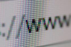 WWW Address Bar of Web Browser. Closeup of Computer Screen.