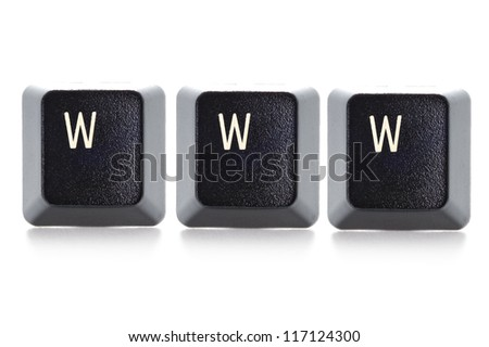 www concept isolated on white background